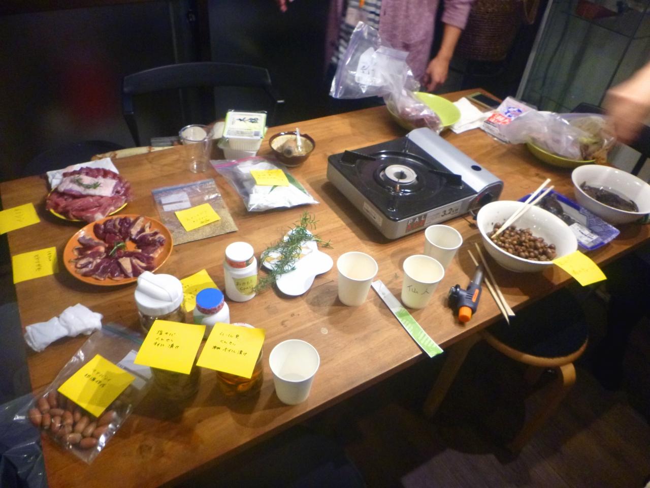 とって食べる会 野肉会@駒沢大学 猟期おつかれさま編